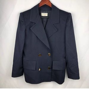 Givenchy Women's Navy Blazer Jacket Size M
